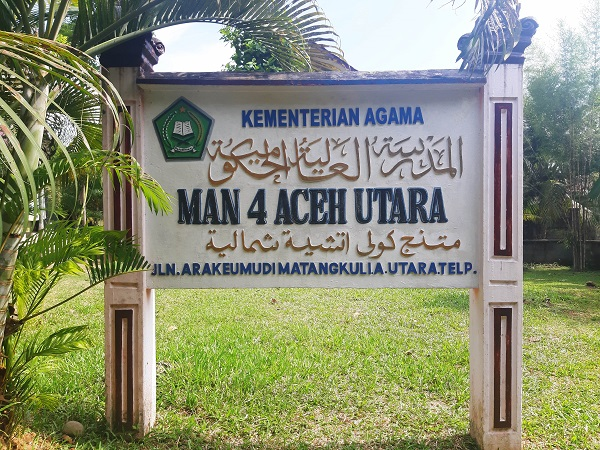 Covid-19 Siswa dan Guru MAN 4 Aceh Utara menggunakan E-Learning
